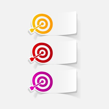 realistic design element: target  イラスト・ベクター素材