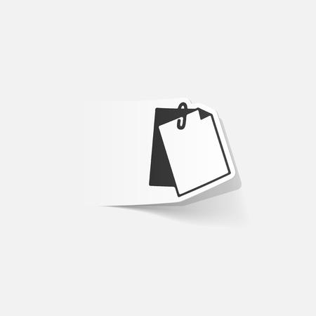 realistic design element: clipboard Çizim