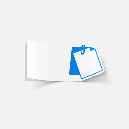 realistic design element: clipboard Иллюстрация