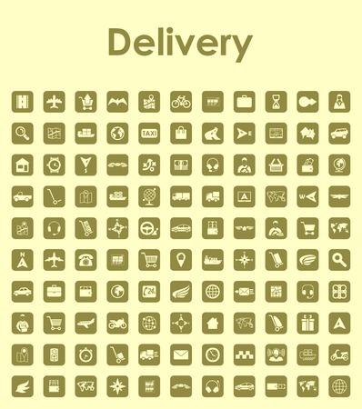 Set van levering eenvoudige pictogrammen Stock Illustratie