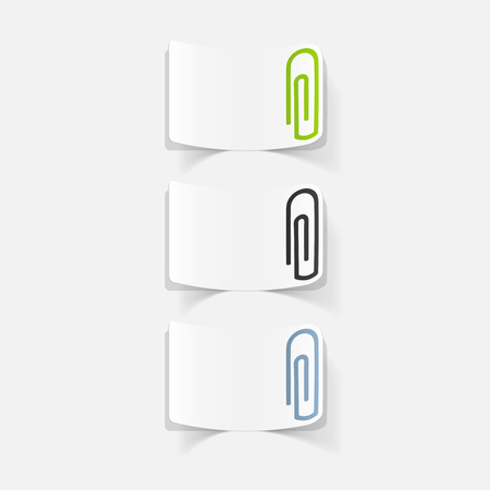 realistic design element: paper clip Illustration