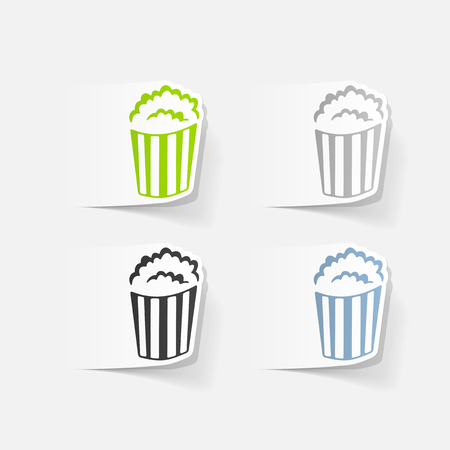 Lément de design réaliste: popcorn Banque d'images - 80115356