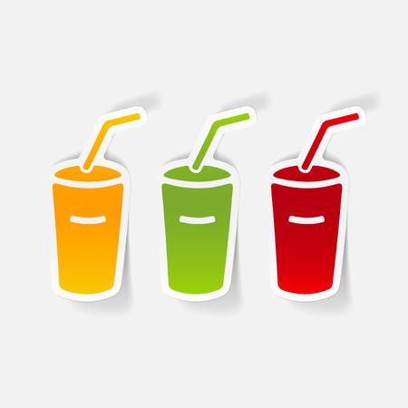 realistisch ontwerp element: soda