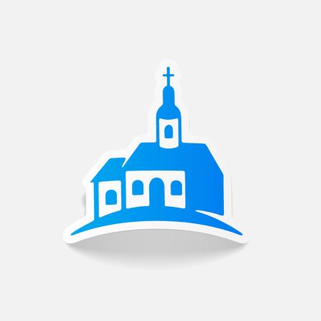 realistic design element: church Banco de Imagens - 80115380