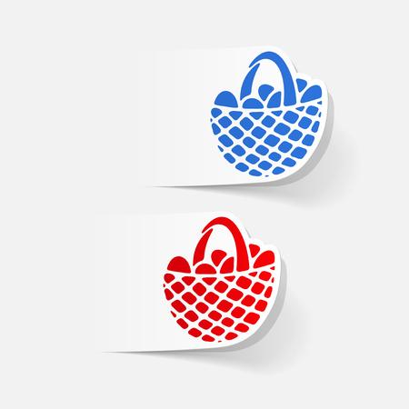 realistic design element: easter basket