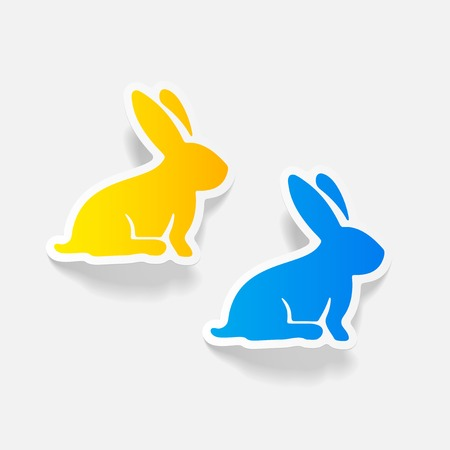 realistic design element: easter rabbit