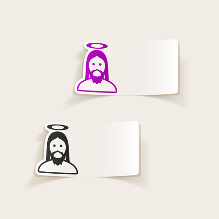 realistic design element: jesus