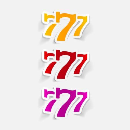 realistic design element: three seven Illustration