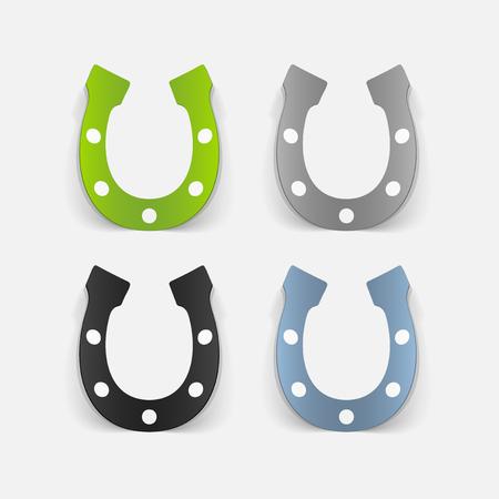 realistic design element: horseshoe