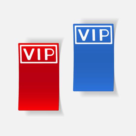 celebrities: A realistic design element: vip.