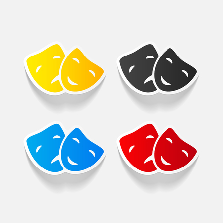 realistic design element: mask Illustration