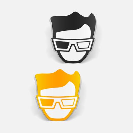 A realistic design element: 3d glasses. Stock Vector - 80114197