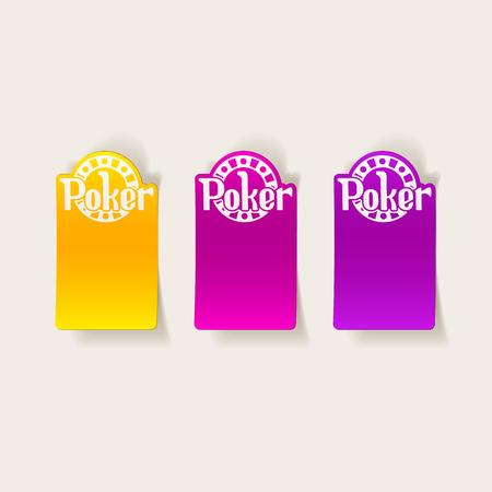Elemento de diseño realista: poker Foto de archivo - 80114206