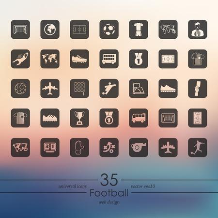 Set van voetbal iconen