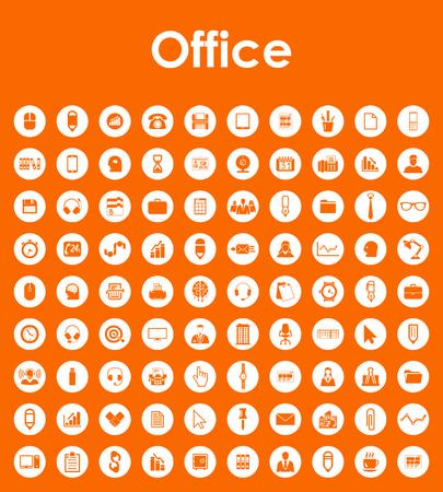 オフィスの簡単なアイコンのセット