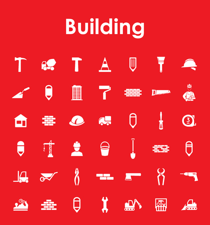 Set of building simple icons Stock Vector - 80498751
