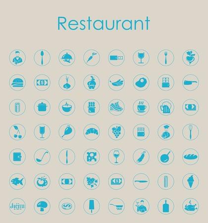 レストラン シンプルなアイコンのセット