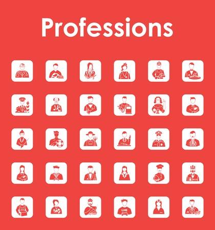 Set van beroepen eenvoudige iconen Stock Illustratie