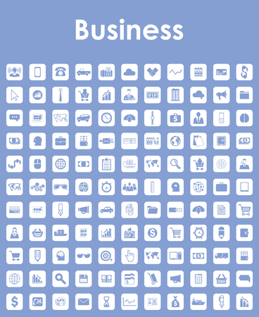 consult: Set of business simple icons Illustration