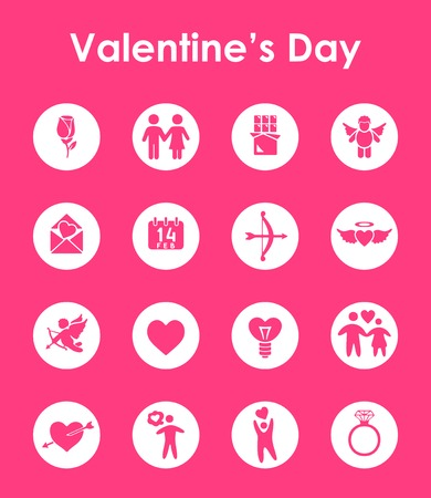 발렌타인 데이 간단한 아이콘 세트