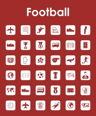 축구 간단한 아이콘 세트 스톡 콘텐츠 - 80499332