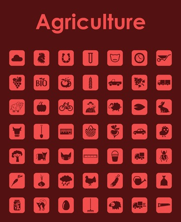 Set of agriculture simple icons Illustration