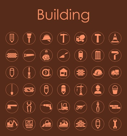 Set of building simple icons Stock Vector - 80499673