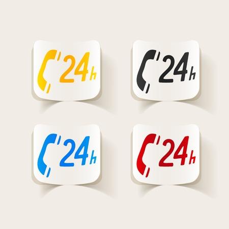 realistic design element: support service