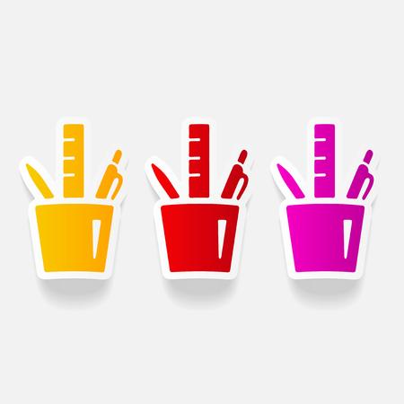 realistic design element: stationery tools Illustration