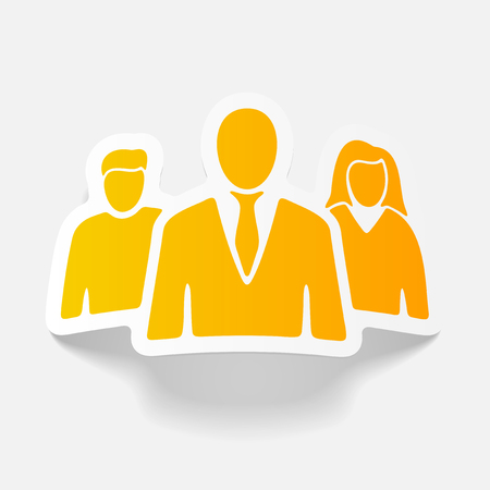 realistic design element: business people Illustration