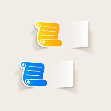 Realistisch ontwerpelement: leeg papier Stock Illustratie