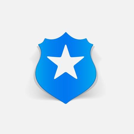 realistic design element. police badge