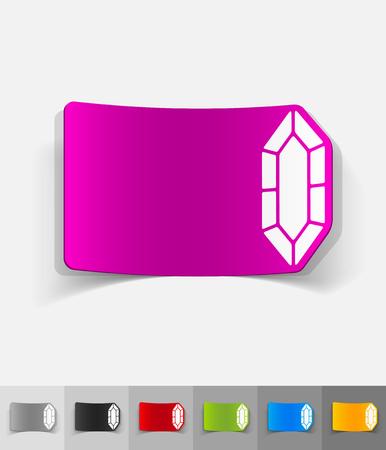 realistic design element. gem Stock fotó - 80500443