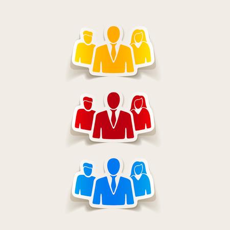 realistic design element: business people Illustration
