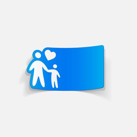 realistic design element: family Фото со стока - 81069878