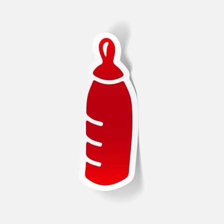 realistic design element: baby bottle 向量圖像
