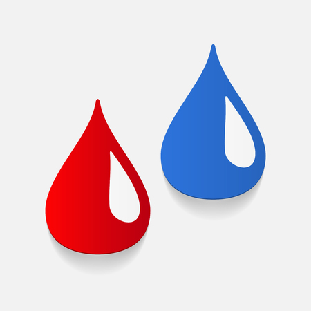 Realistisch design element: drop