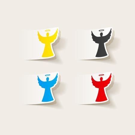 realistic design element: angel Ilustrace