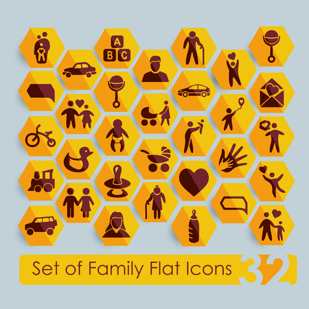Set of family icons Vector Illustration