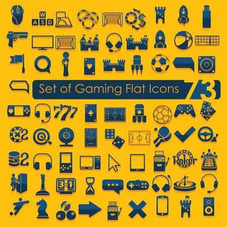 Set of game icons Ilustração