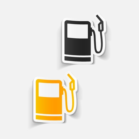 realistic design element: gas station Stock Vector - 81370812