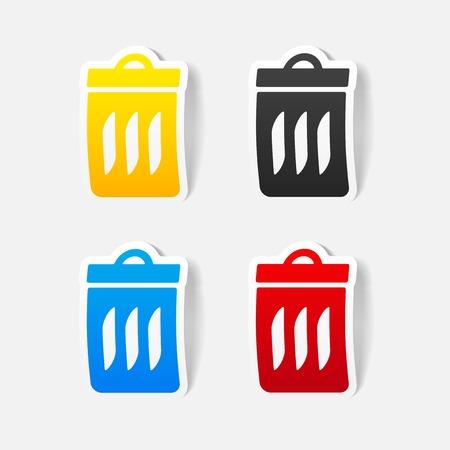 realistic design element: trash can