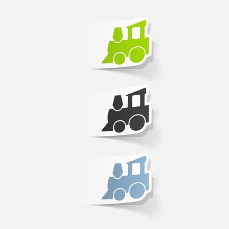 Realistisches Design-Element: Kinderzug Standard-Bild - 81318591