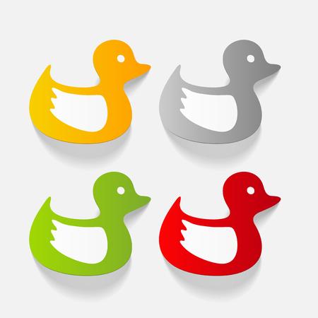 realistic design element: duck Ilustrace