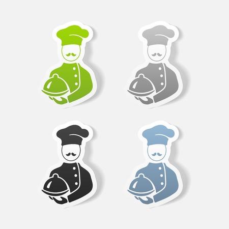 Elemento di design realistico. cuoco Archivio Fotografico - 81320176