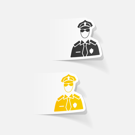 speciality: realistic design element. police officer Illustration