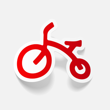 realistic design element: childrens bike