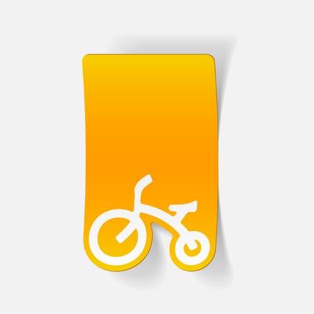Realistisches Design-Element: Kinderrad Standard-Bild - 81319956