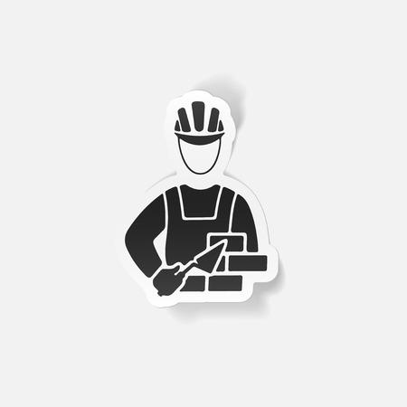 competence: realistic design element. builder Illustration