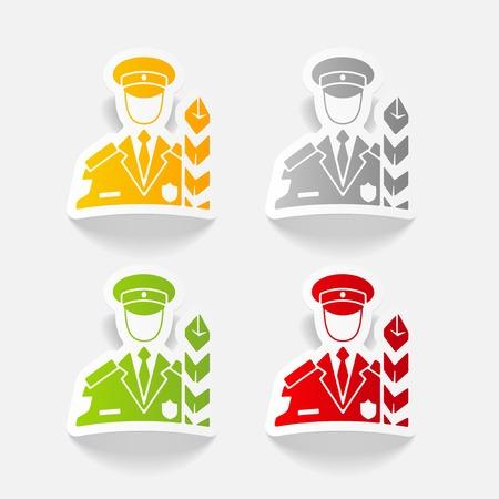 Elemento de diseño realista. inspector de aduanas
